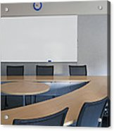 Empty Boardroom Or Meeting Room In An Acrylic Print by Marlene Ford