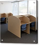 Empty Carrels Acrylic Print by Will & Deni McIntyre