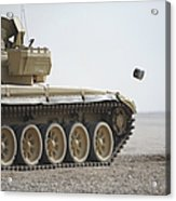 Empty Casings Eject From An Iraqi T-72 Acrylic Print
