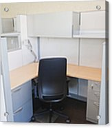Empty Office Cubicle Acrylic Print