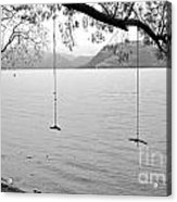 Empty Swings In The Rain Acrylic Print