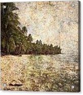 Empty Tropical Beach 2 Acrylic Print