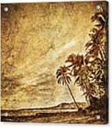 Empty Tropical Beach 3 Acrylic Print
