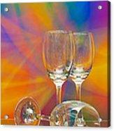 Empty Wine Glass Acrylic Print by Anuwat Ratsamerat