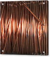 Enamel Coated Copper Wire Acrylic Print by Photo Researchers