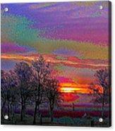 Enameled Sunrise Of Northern California Acrylic Print
