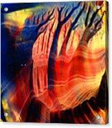 Encaustic 467 Acrylic Print