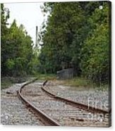 End Of The Rail Acrylic Print