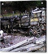 End Of The Trail Oregon Conestoga Wagon  Acrylic Print