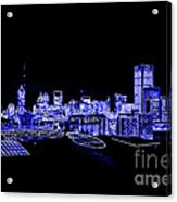 Energetic Atlanta Skyline - Digital Art Acrylic Print
