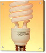 Energy Saving Light Bulb Acrylic Print