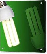 Energy-saving Light Bulbs, Artwork Acrylic Print by Victor Habbick Visions