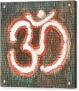 Energy Symbol Om Aum Acrylic Print