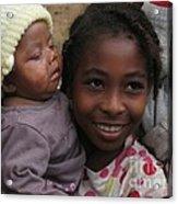 Enfants A Madagascar Acrylic Print by Francoise Leandre