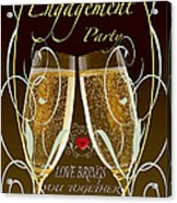 Engagement Party Card Acrylic Print
