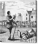 England: Beheading, 1554 Acrylic Print