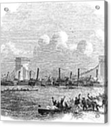 England: Boat Race, 1858 Acrylic Print