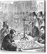 England: Chess Match Acrylic Print