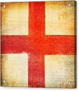 England Flag Acrylic Print