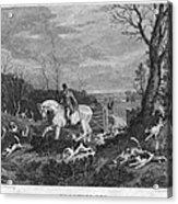 England: Fox Hunt, 1833 Acrylic Print by Granger