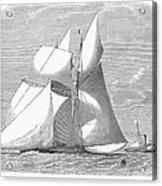 England: Yacht Race, 1868 Acrylic Print
