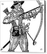 English Archer, 1634 Acrylic Print by Granger