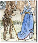 English Beggar, 1330 Acrylic Print