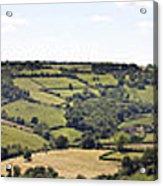 English Countryside Panorama Acrylic Print by Jane Rix
