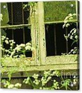 English Countryside Window Acrylic Print