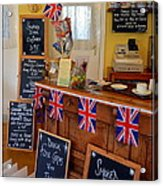 English Tearoom Acrylic Print