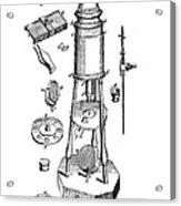 Engraving Of A Culpeper Microscope (1730) Acrylic Print