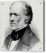 Engraving Of English Geologist Sir Charles Lyell Acrylic Print