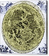 Engraving Of Moon, 1645 Acrylic Print by Science Source