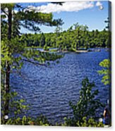 Enjoying The Lake Acrylic Print