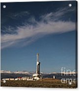Ensign Drilling Rig 125 Acrylic Print