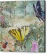 Enter The Garden Acrylic Print by Dorothy Herron