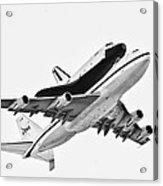 Enterprise Shuttle Ny Flyover Acrylic Print by Regina Geoghan