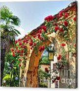 Entrance Arch With Flowers Acrylic Print