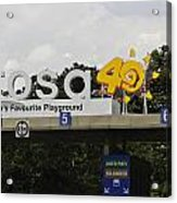 Entrance Gate For Sentosa Island In Singapore Acrylic Print
