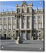 Entrance Of The Royal Palace In Madrid Acrylic Print