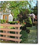 Entrance To A Victorian Garden Acrylic Print