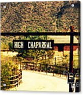 Entrance To The High Chaparral Ranch Acrylic Print