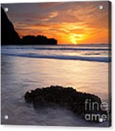 Enveloped By The Tides Acrylic Print by Mike  Dawson
