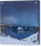 Enveloping Storm At Crater Lake Acrylic Print