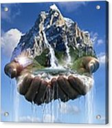 Environmental Care, Conceptual Image Acrylic Print by Smetek