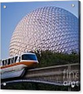 Epcot And Monorail Acrylic Print