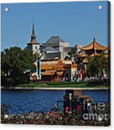 Epcot China And Norway Acrylic Print