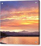 Epic August Colorado Sunset  Acrylic Print