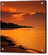 Epic Sunset In The Tropical Maldivian Island Acrylic Print