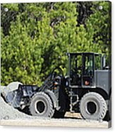 Equipment Operator Gathers A Load Acrylic Print